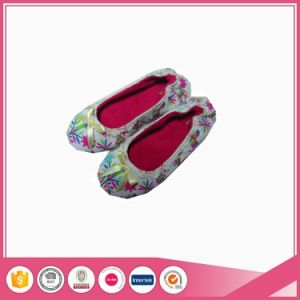 Wholesale Aop Jersey Foldable Ballet Indoor Slippers pictures & photos