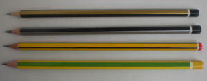 Top Quality Wooden Pencil with Strip and DIP End pictures & photos