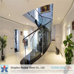 Clear/Sheet Toughened Glass for Stair Railings with Certification pictures & photos