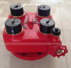 4-Way Fire Hydrant Breeching Inlet Valve for Gas in and out pictures & photos