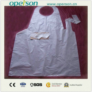 Disposable Waterproof and Dustproof Plastic Apron (OS5013) pictures & photos