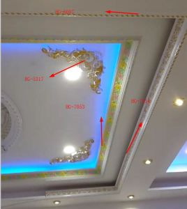 Deligate Rose Carving PU Cornice Crown Moulding for Ceiling Wall Decoration pictures & photos