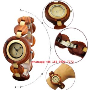 Lovely Quartz Movement Wooden Watch with Wooden Band for Women Fs499 pictures & photos