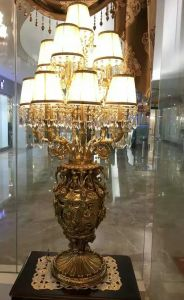 Home Goods Crystal Table Lamps Antiqued Brass Table Lamps (TA-1048-8+4+1) pictures & photos