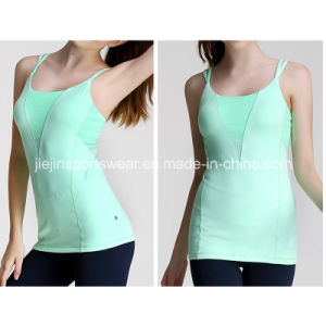 Wholesale Custom Women′s Dri Fit Fitness Tank Top with Mesh pictures & photos