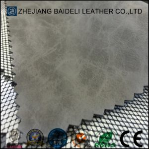 SGS Certification New Woven PVC Leather Shoe Leather pictures & photos