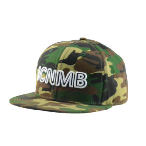 Custom Cotton Camo Caps with 3D Embroidery Logo pictures & photos