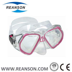 Reanson Brand Wide View Silicone Diving Mask pictures & photos
