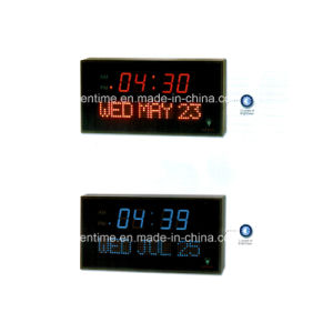 Large Display LED Digital Wall Time and Calendar Clock with Temperature Display pictures & photos