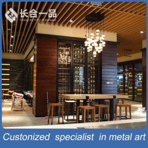 Customized Wall Mounted Black Titanium Wine Cellar furniture for Bar/Club pictures & photos
