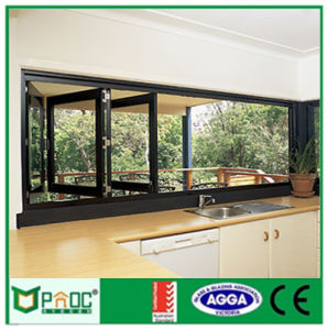 Double Glazed Aluminum Folding Window with High Quanlity (PNOC005) pictures & photos