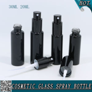 20ml 30ml Glass Vial Spray Perfume Bottle with Black Screw Spray Pump pictures & photos