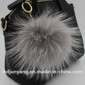 Genuine Raccoon Fur POM Poms Key Ring pictures & photos