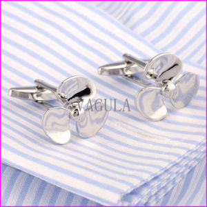 Silver Plated Propeller Brass Cufflink for Men pictures & photos
