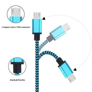 5V 2A Nylon Insulated 8 Pin Lightning USB Cable for Samsung Phone pictures & photos