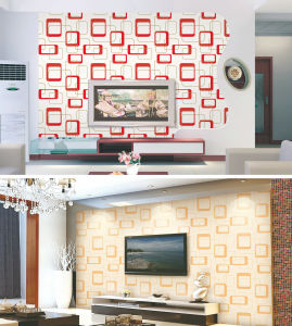 Decorative Interior 3D Wallpapers Guangzhou with PVC Waterproof pictures & photos