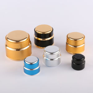 Hot Sale Aluminium Jar with Caps for Cosmetics and Cream pictures & photos
