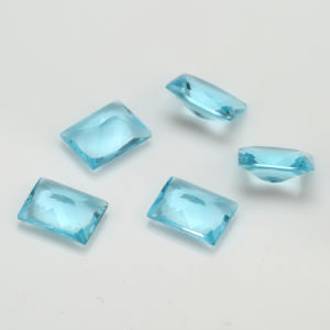 Jewlelry Making Aqumarine Colored Glass Stones pictures & photos