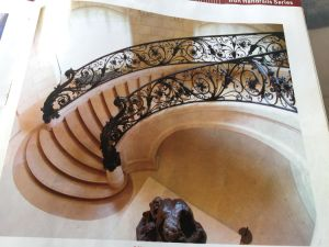 High Quality Wrought Iron Staircase Handrail pictures & photos
