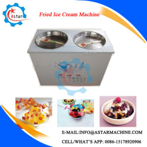 Double Pans Fried Ice Machine for Sale pictures & photos