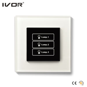 3 Gangs Lighting Switch Touch Panel Leather Outline Frame (AXL-LE-L3) pictures & photos