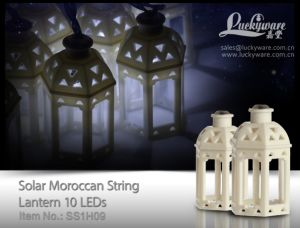 Solar Moroccan String Lantern with 10 LEDs pictures & photos