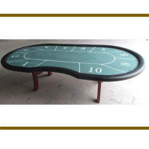 Luxury Poker Table with Wood Leg in Big Casino pictures & photos