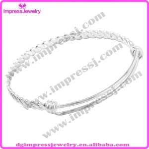 Factory Supply Vintage Pattern Twisted 316L Stainless Steel Wire Expandable Bangle Bracelets Adjustable Bangle (IJB0451) pictures & photos