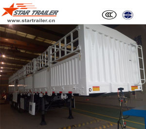 3 Axles Side Fence Cargo Transport Trailer pictures & photos