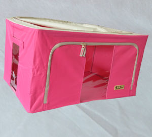 120L Foldable Storage Box Room Organiser Fabric & Plastic Cloth Organiser pictures & photos