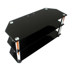 Black Tempered Glass TV Stand pictures & photos