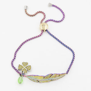 Rainbow Color Adjustable Leather Charm Bracelet Fashion Jewelry pictures & photos