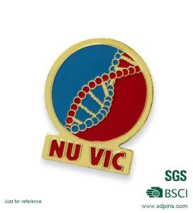 Custom Metal Ribbon Logo Enamel Organization Pin Badge pictures & photos
