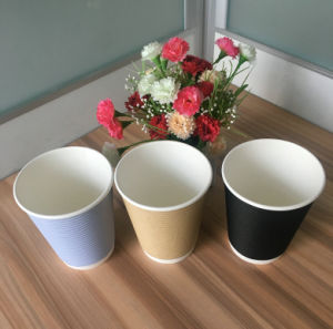 12oz Ripple Paper Cups pictures & photos