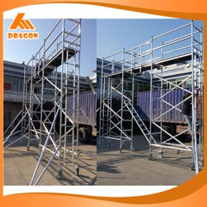 Portable Single Width Aluminum Scaffold, Construction Scaffold for Sale pictures & photos