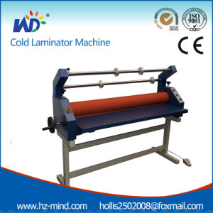 Electric 1300mm Rewinding Graphic Cold Roll Laminator (WD-HLD1300) pictures & photos