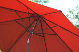 9FT Red Sunshade Umbrella with Metal Pole 9′ pictures & photos