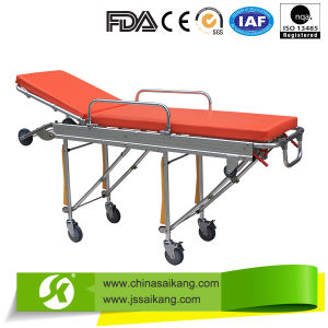China Manufacturer Beautiful Ambulance Stretcher Trolley pictures & photos