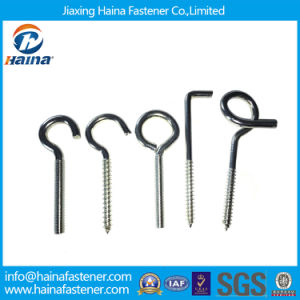 Zinc Plated/Galvanized Half Thread Ring Screws Eye Hook Screws Lag Eye Screws for Wood pictures & photos