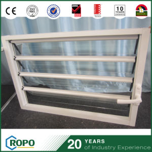 UPVC Glass Shutter Security Blind Louver Windows with Handle pictures & photos