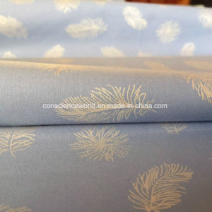 Polyester/Cotton65/35 Pearl Powder Printed Down-Proof Fabric for Home Textile 140GSM pictures & photos