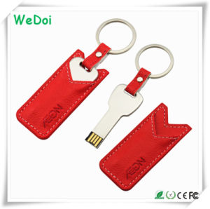 Hot Selling Leather Key USB Stick with 1 Year Warranty (WY-L37) pictures & photos