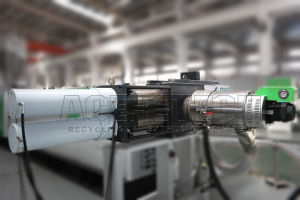 Full Automatic Single Screw Extrusion and Pelletizing System for Flakes/Regrinds pictures & photos