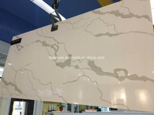 Artificial Calacatta Quartz Stone Countertop pictures & photos