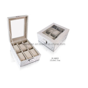Handmade Square Gift Display Packaging Leather Watch Box Watch Case pictures & photos