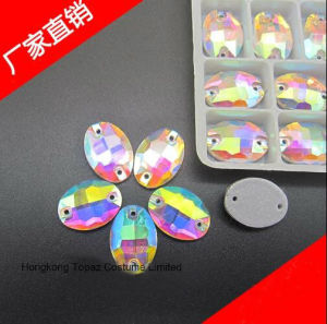 Oval 10*14 Flat Back Sew on Crystal Strass Rhinestone Crystal Ab (SW-Oval 10*14mm) pictures & photos