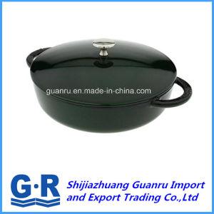 Black Cast Iron Pot with Enamel pictures & photos
