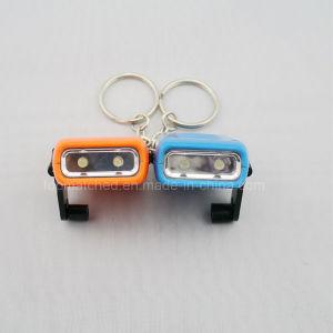 Hand Dynamo Mini LED Flashlight Keychain Energy Saving pictures & photos