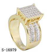 Sterling Silver Ruby Rings CZ Rings Rhodium Plated pictures & photos