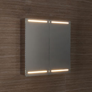 Hot Selling Modern Stainless Steel Bathroom Mirror Cabinet with LED Light 7101 pictures & photos
